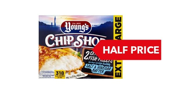 HALF PRICE | Young's Chip Shop Fish Fillets In Batter