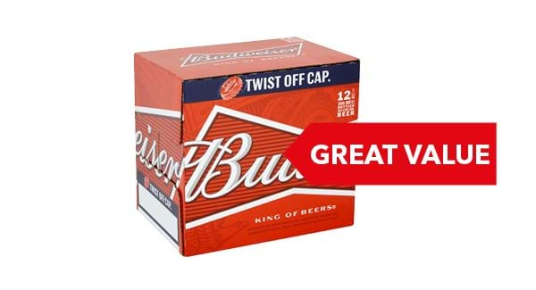 GREAT VALUE | Budweiser 12x300ml