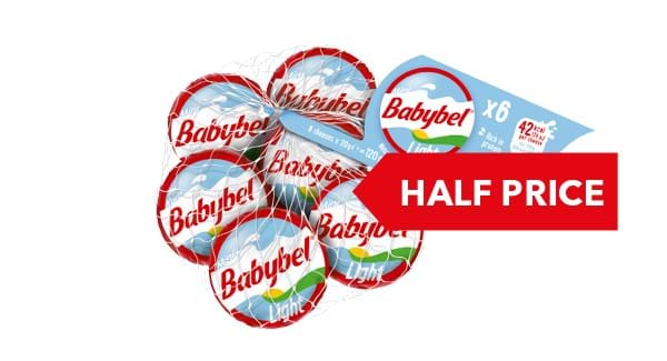 HALF PRICE | Mini Babybel 6x20g