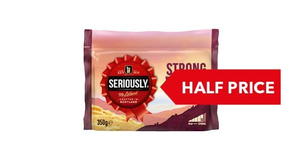 HALF PRICE | Seriously Strong Cheddar 330g/350g