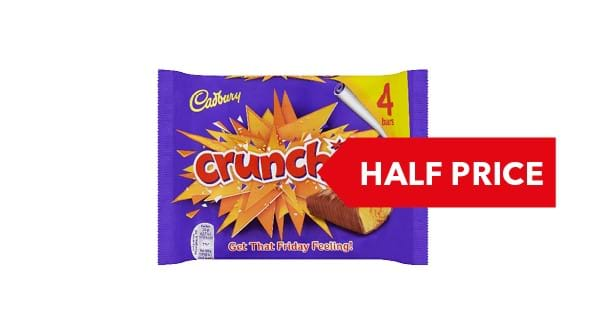 HALF PRICE | Cadbury Chocolate Bars 4 pack 120g -188g