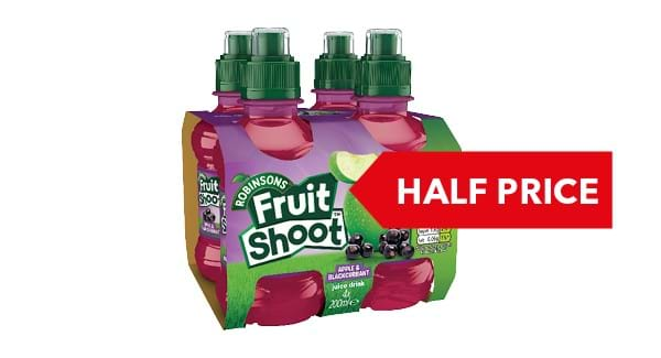 HALF PRICE | Robinsons Fruit Shoot 4x200ml