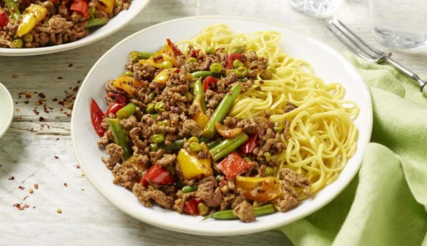 Asian-style beef stir fry