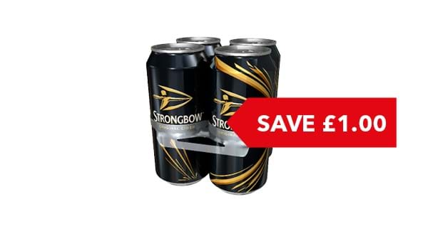 SAVE £1.00 | Strongbow Cider 4x440ml