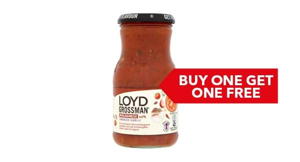 BUY ONE GET ONE FREE | Loyd Grossman Sauces 350g