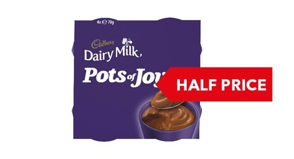 HALF PRICE | Cadbury Dairy Pots of Joy