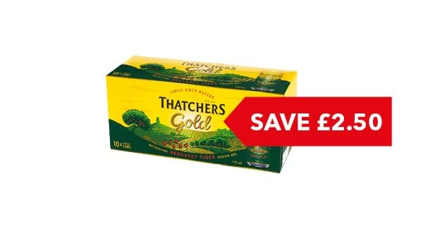 SAVE £2.50 | Thatchers Gold 10x400ml
