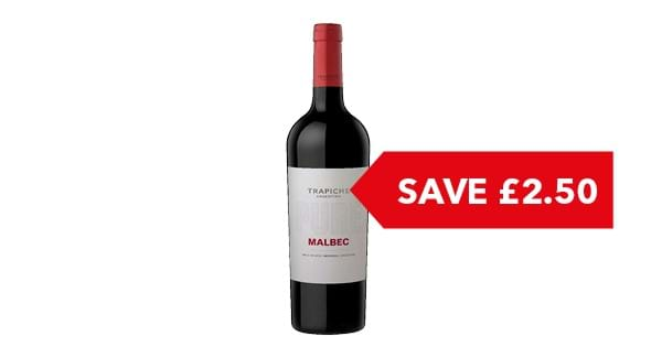 SAVE £2.50 | Trapiche Pure Malbec 75cl