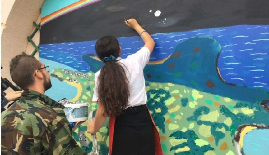 Society works with local students to create Pride mural