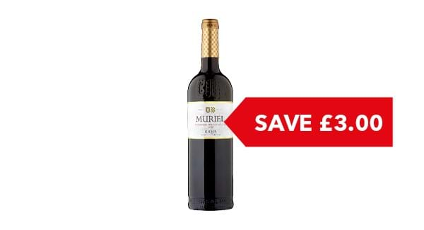 SAVE £3.00 | Muriel Tempranillo Rioja 75cl