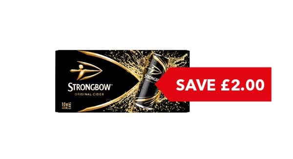 SAVE £2.00 | Strongbow Cider 10x440ml