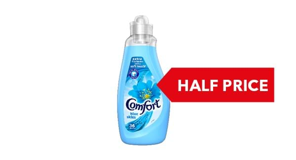 HALF PRICE | Comfort Concentrated Fabric Conditioner 1.26l