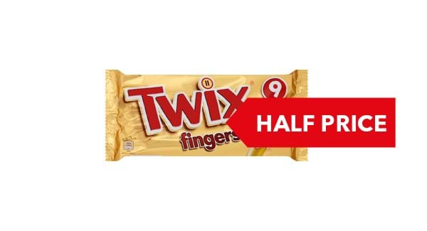 HALF PRICE | Twix Biscuits Fingers 9 Pack
