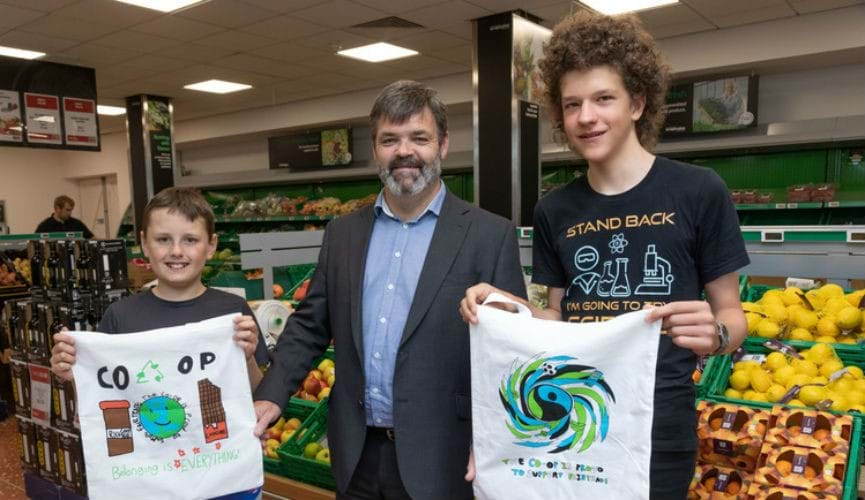 Winning designs from our Fairtrade bag competition are now in stores