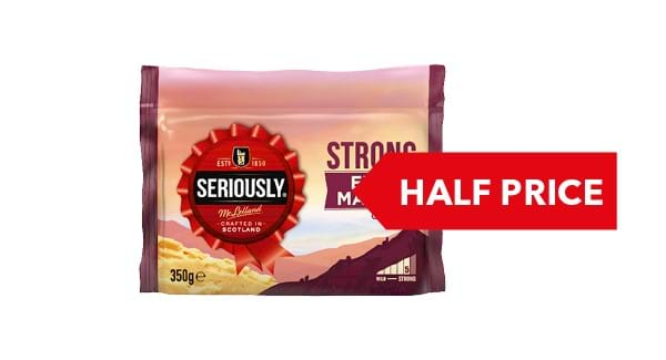 HALF PRICE | Seriously Strong Cheddar 300g/350g