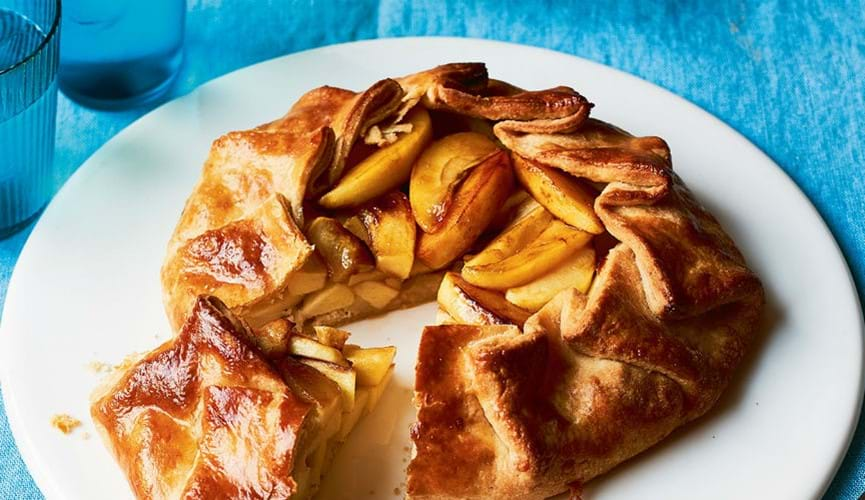 Cheese and apple galette