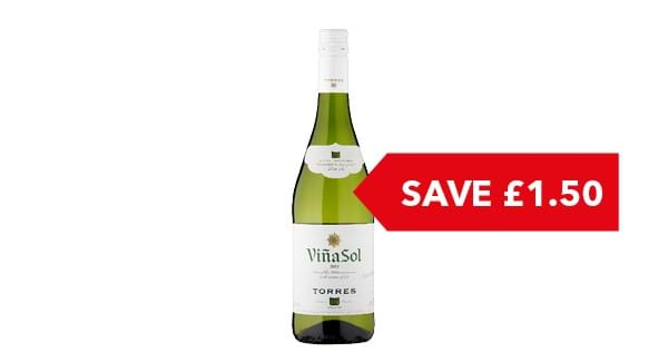 SAVE £1.50 | Torres Viña Sol 75cl