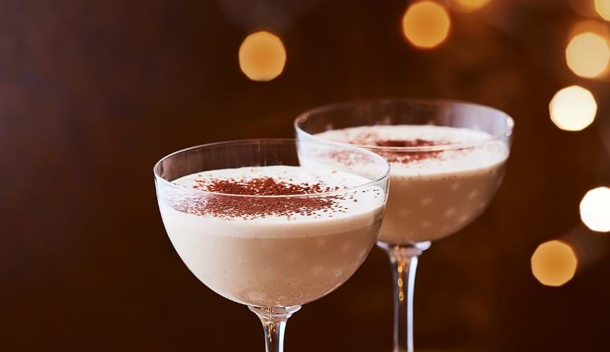 Creamy cappuccino cocktail