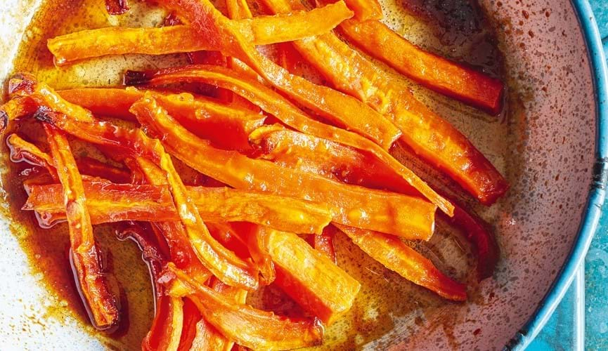 Marmalade glazed carrots