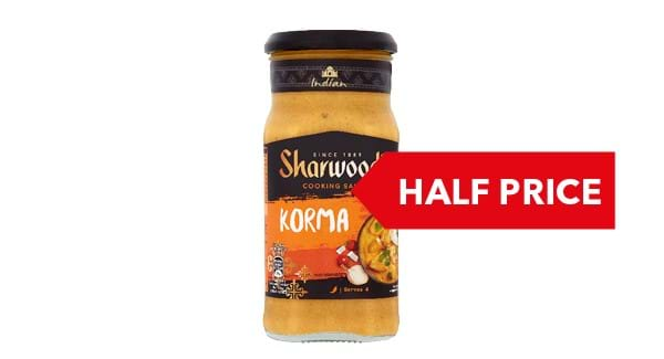 HALF PRICE | Sharwoods Indian Cooking Sauces 420g