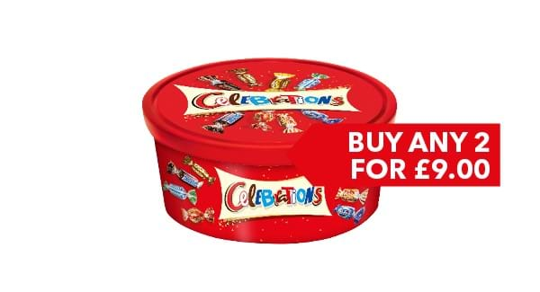 BUY ANY 2 FOR £9.00 | Celebrations/Quality Street/Roses/