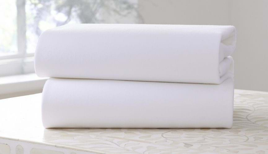 Module - Pack of two fitted cot bed sheets in white