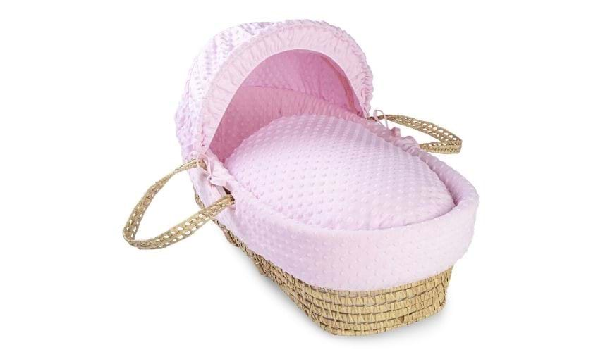Module - Dimple Moses basket in pink