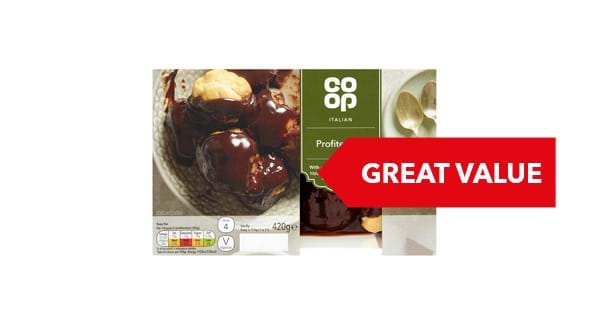 GREAT VALUE | Co-op Profiteroles 400g