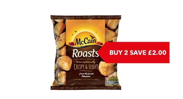 BUY 2 SAVE £2.00 |  McCain Roast Potatoes 800g