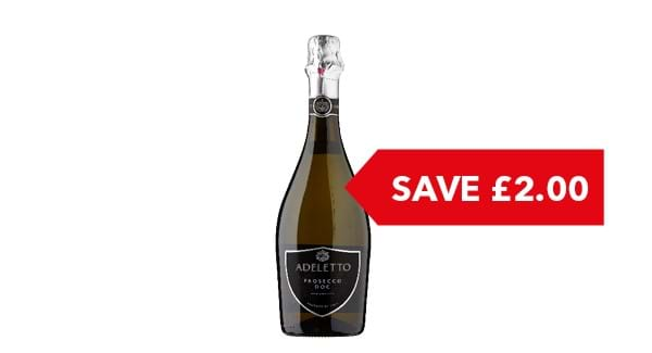 SAVE £2.00 | Adeltto Prosecco 75cl