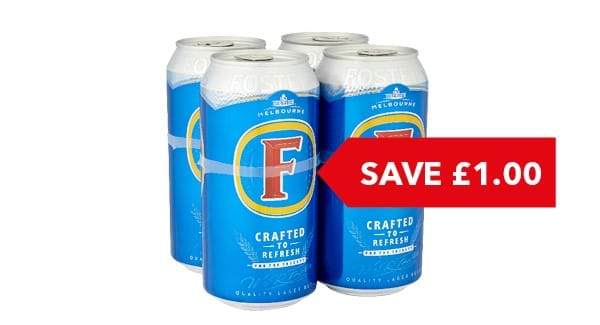 SAVE £1.00 | Fosters 4x440ml