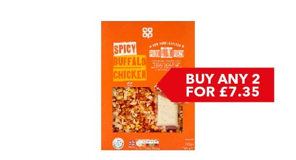 BUY ANY 2 FOR £7.35 | Co-op Piled High Pizza 495g - 555g