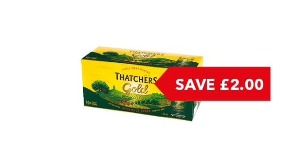 SAVE £2.00 | Thatchers Gold 10x400ml