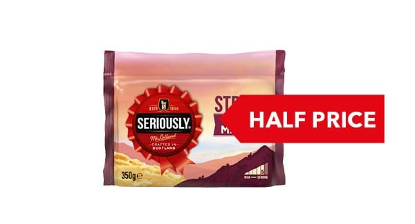 HALF PRICE | Seriously Strong Cheddar 300/350g