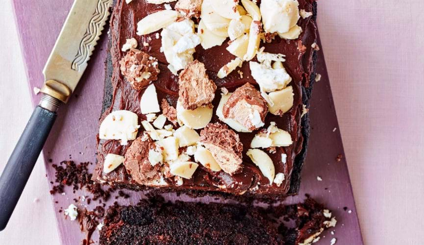 Fairtrade chocolate and banana loaf cake