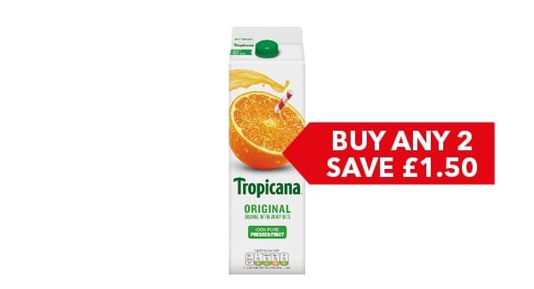 BUY ANY 2 SAVE £1.50 | Tropicana 850ml/950ml
