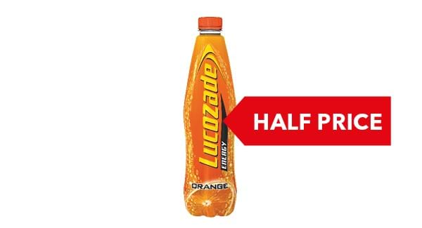 HALF PRICE | Lucozade Energy 1L