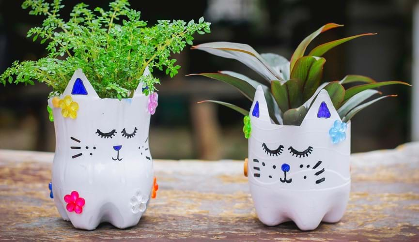 Recyclable flower pots