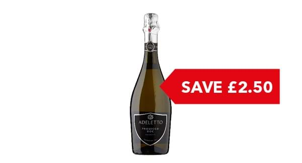 SAVE £2.50 | Adeletto Prosecco 75cl
