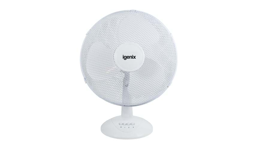 "Ingenix 16"" desk fan (white)"