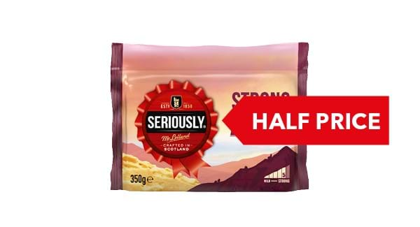 HALF PRICE | Seriously Strong Cheddar 300g-350g
