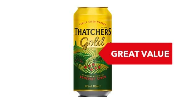 GREAT VALUE | Thatchers Gold Cider 10x440ml
