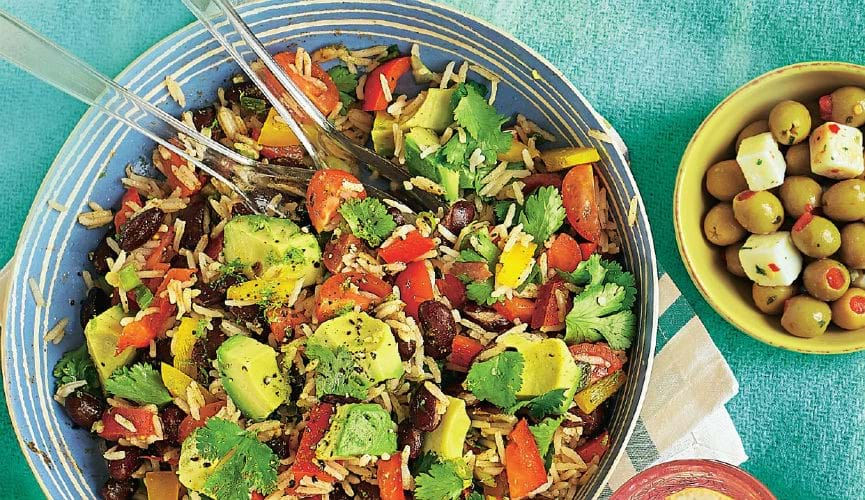 Mexican rainbow salad
