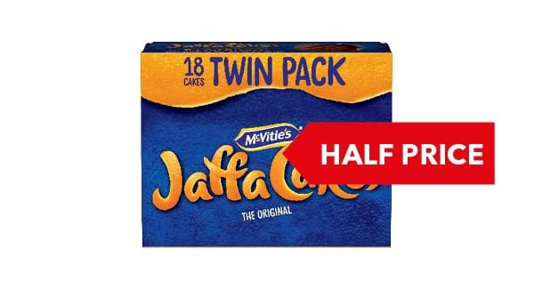 HALF PRICE | McVities Jaffa Cakes Twin Pack