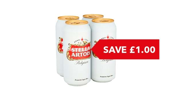 SAVE £1.00 | Stella Artois 4x440ml