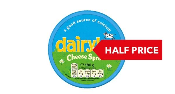 HALF PRICE | Dairylea Cheese Spread 180g