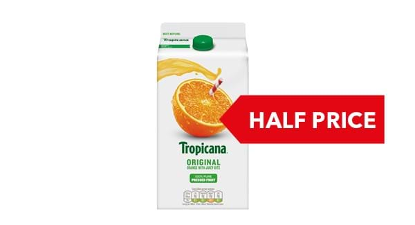 HALF PRICE | Tropicana Orange 1.4 Litre