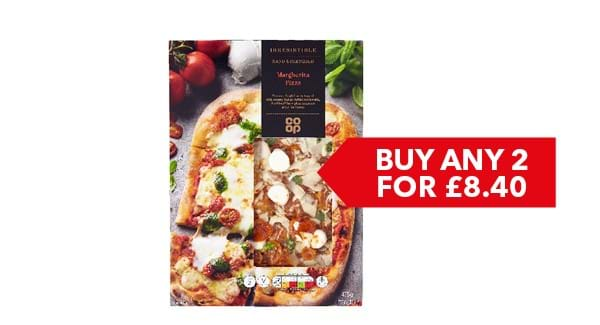 BUY ANY 2 FOR £8.40 | Co-op Irresistible Pizza 450g-510g