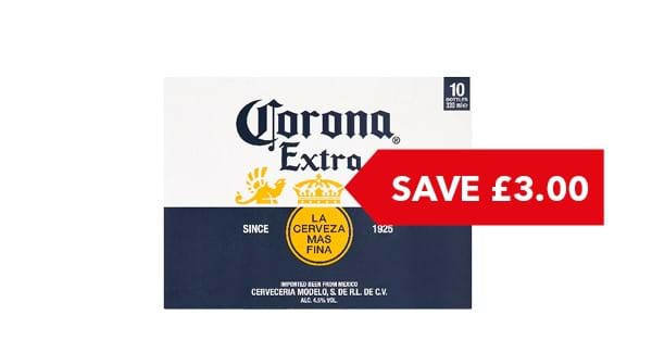 SAVE £3.00 | Corona Bottle 10x330ml