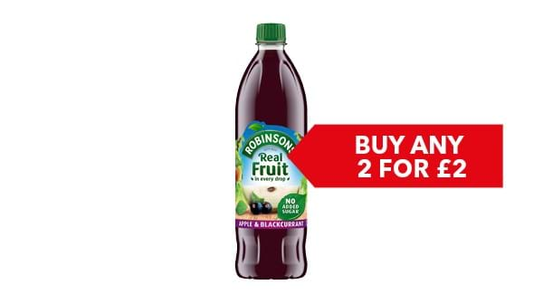 BUY ANY 2 FOR £2.00 | Robinsons Fruit Squash 1 Litre